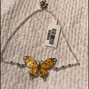 Jewelry - Sterling silver Enameled Bolo Butterfly Braclet
